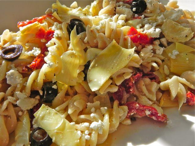 Artichoke, Feta and Sundried Tomato Salad