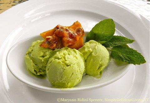 Avocado Ginger Ice Cream