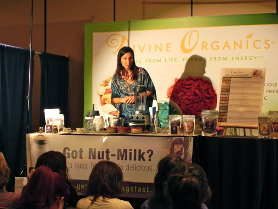"""Culinary Artist and raw food advocate, Diana Stobo, conducted an """"Amazing Nut and Seed"""" Milk Demo Class"""