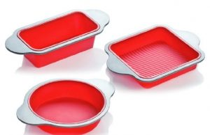 Silicone Bakeware Set | 3-Piece Professional Non-Stick Silicone Baking Set by Boxiki Kitchen